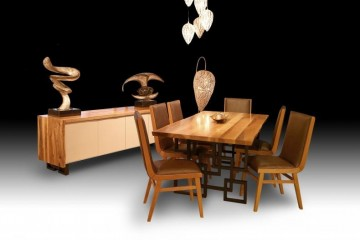 Wood Walnut Dining Room