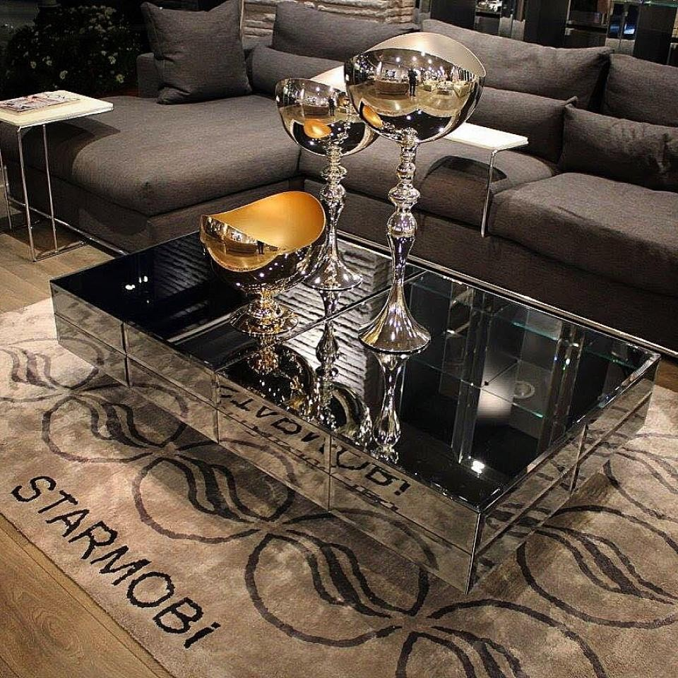 Mirror Middle Coffee Table